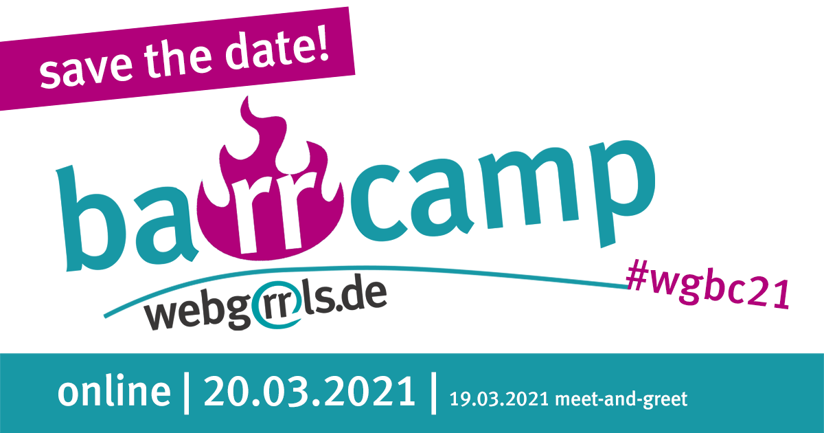 Banner Webgrrls-Barcamp - save the date